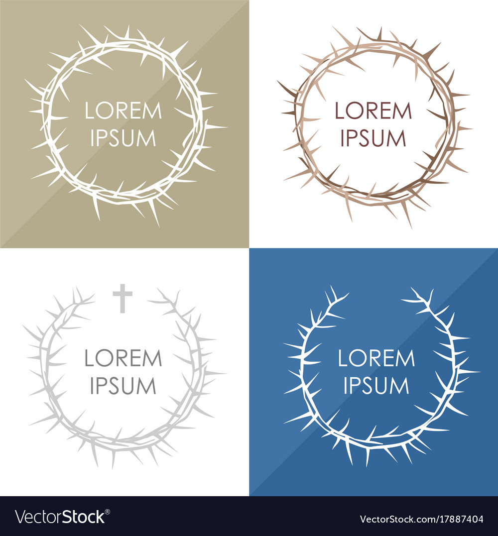 Set the crown of thorns vector image