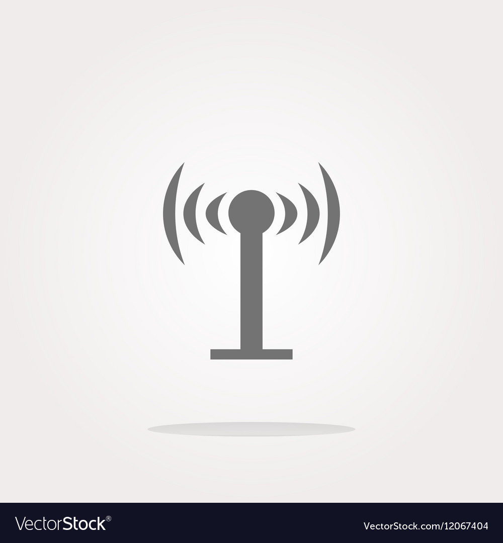 Wifi symbol icon button isolated on white vector image