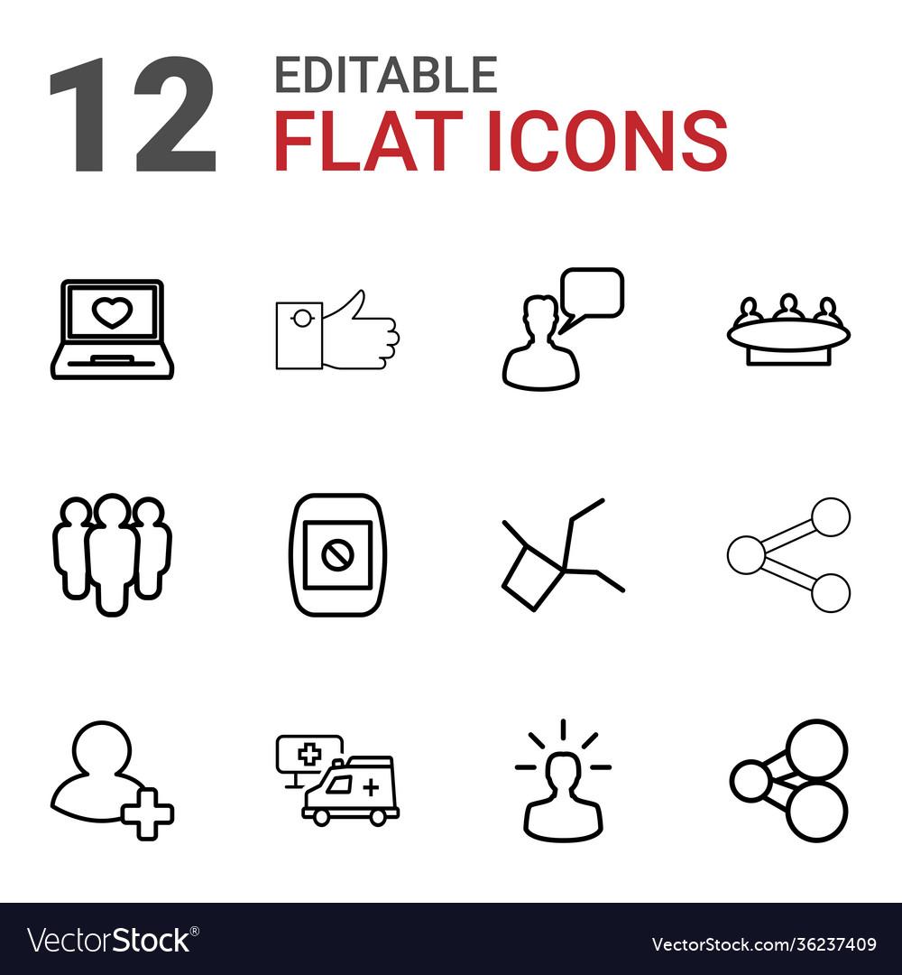 12 social icons