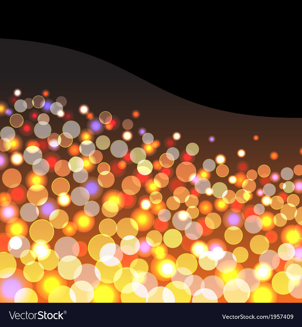 Abstract background with golden lights