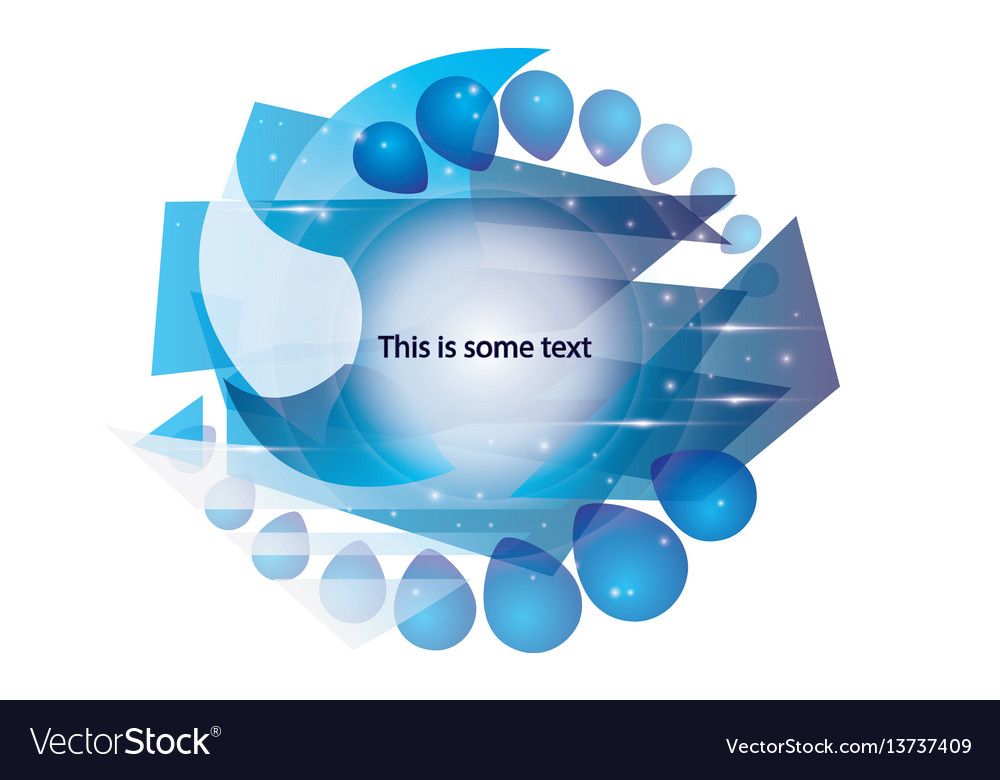 Abstract color template for text vector image
