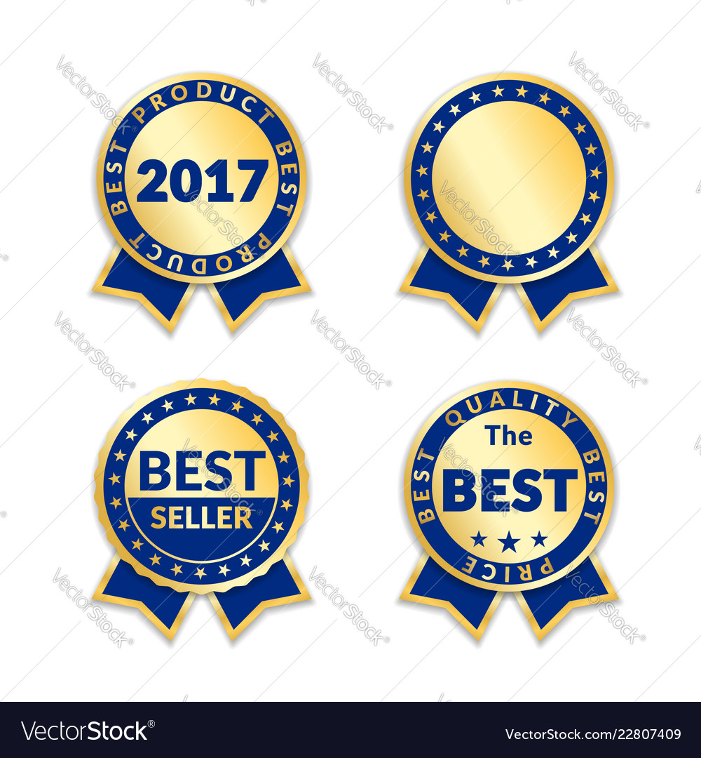 Award ribbon the best seller set