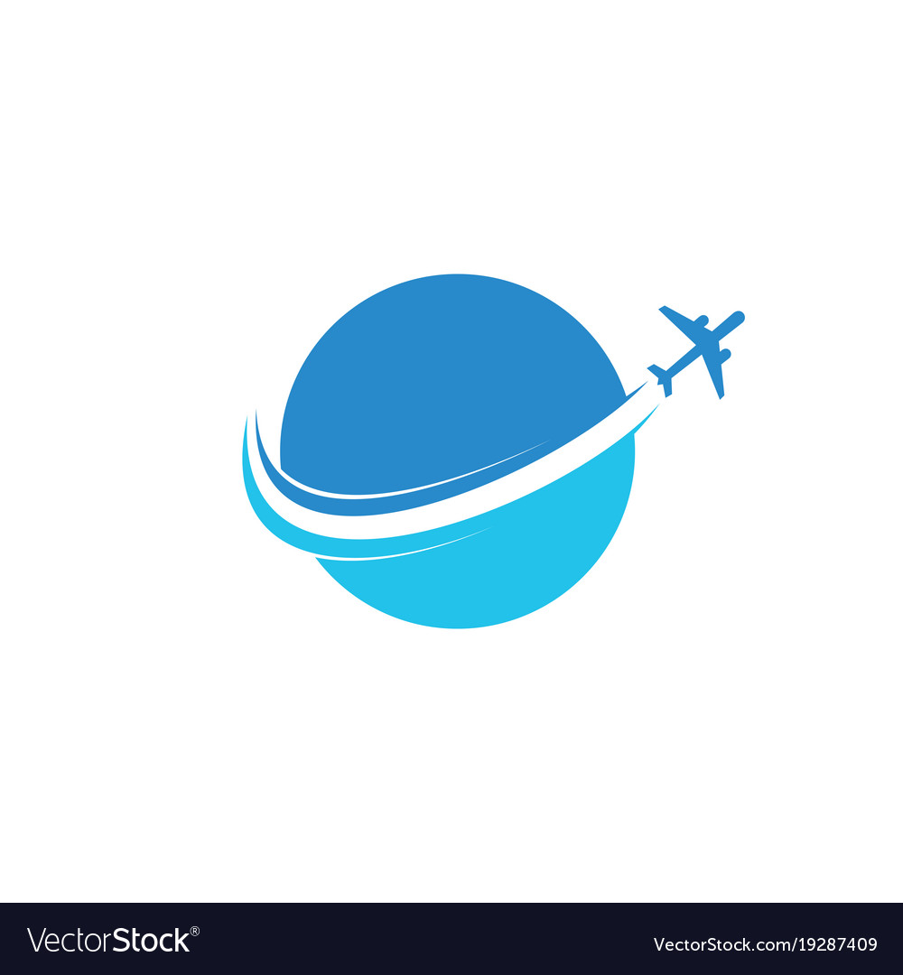circle plane flying aviation logo royalty free vector image