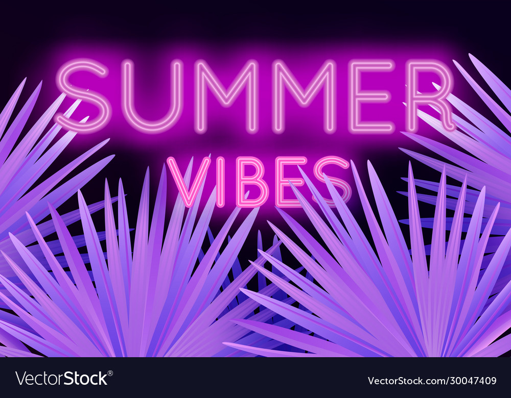 Colorful modern with neon lettering summer vibes