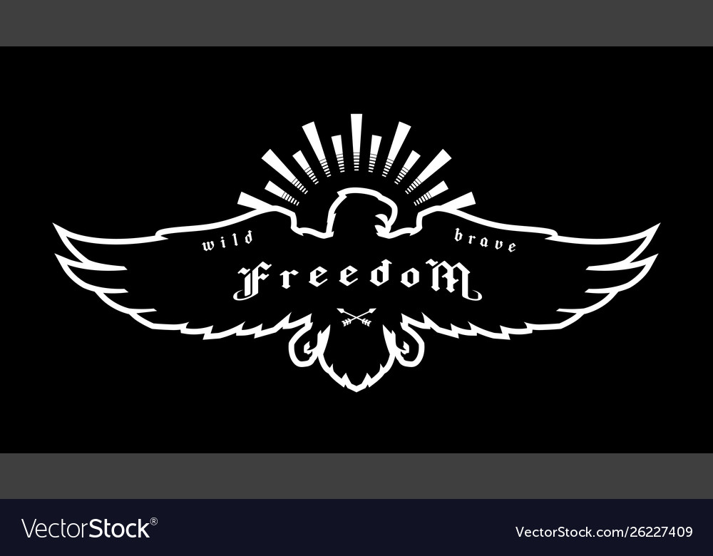 Eagle emblem symbol freedom on a dark