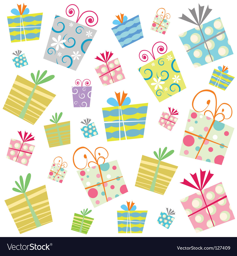 Gift Background Royalty Free Vector Image Vectorstock