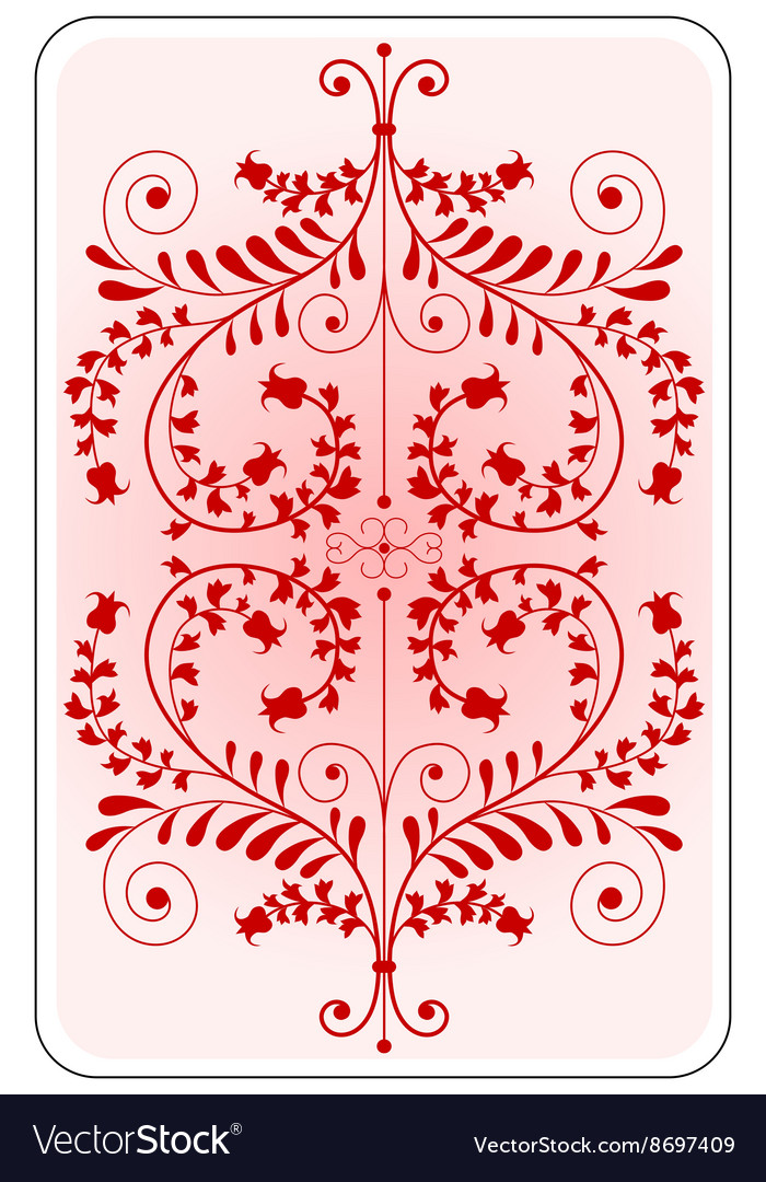 Poker playing card backside red vector image
