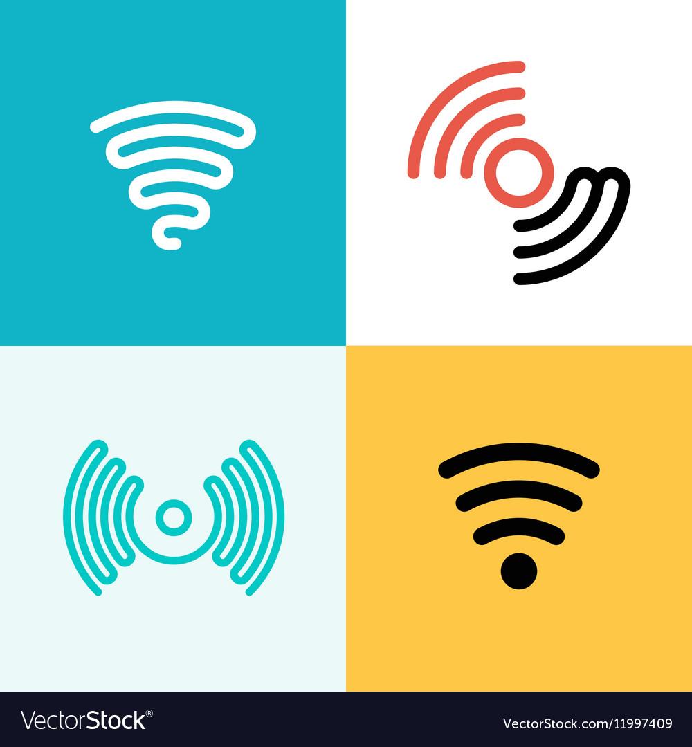 Wifi logo set Wifi zone vector image