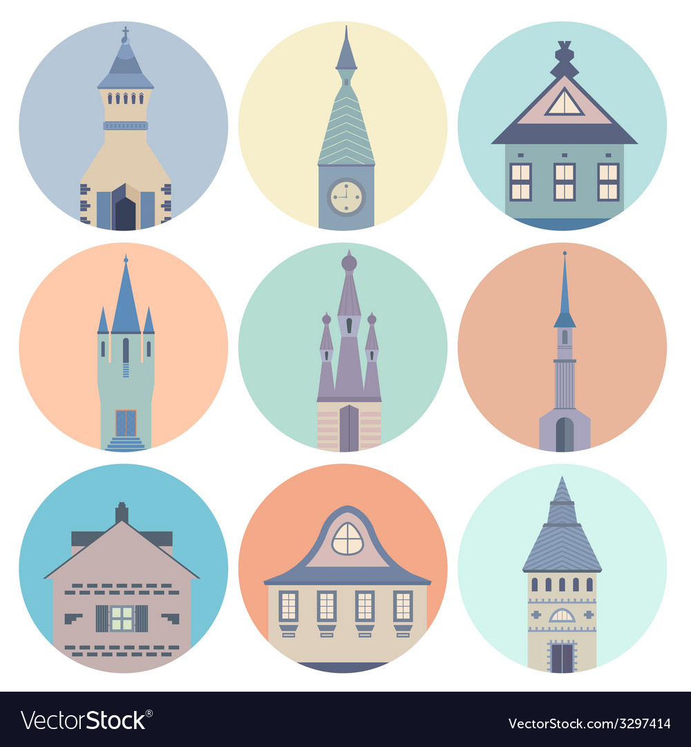 Castle Icons vector image