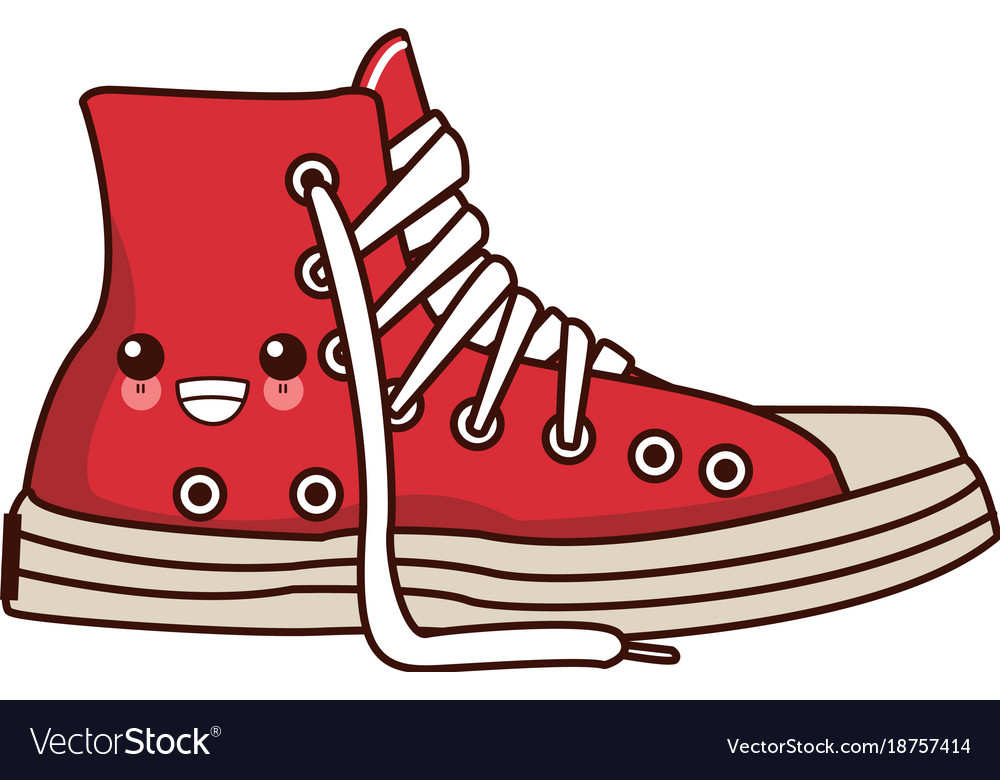 classic urban shoe kawaii cute cartoon royalty free vector rh vectorstock com victor shoe store vector shoe print