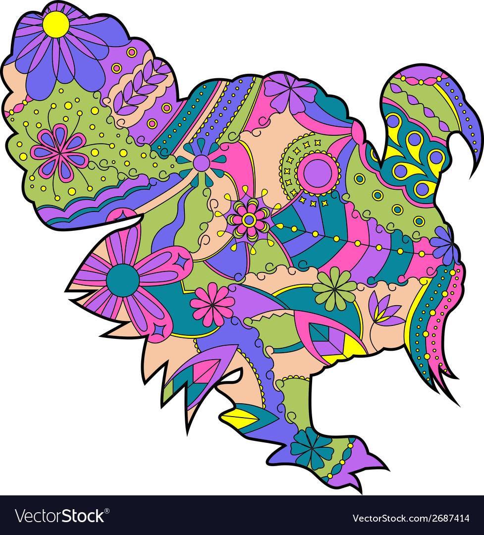 colorful turkey royalty free vector image vectorstock