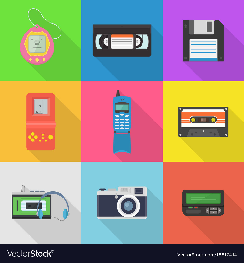 Gadgets 90s icon set