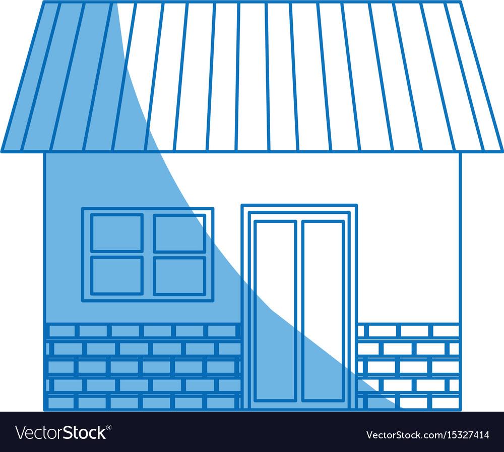 House exterior door window brick residentail icon