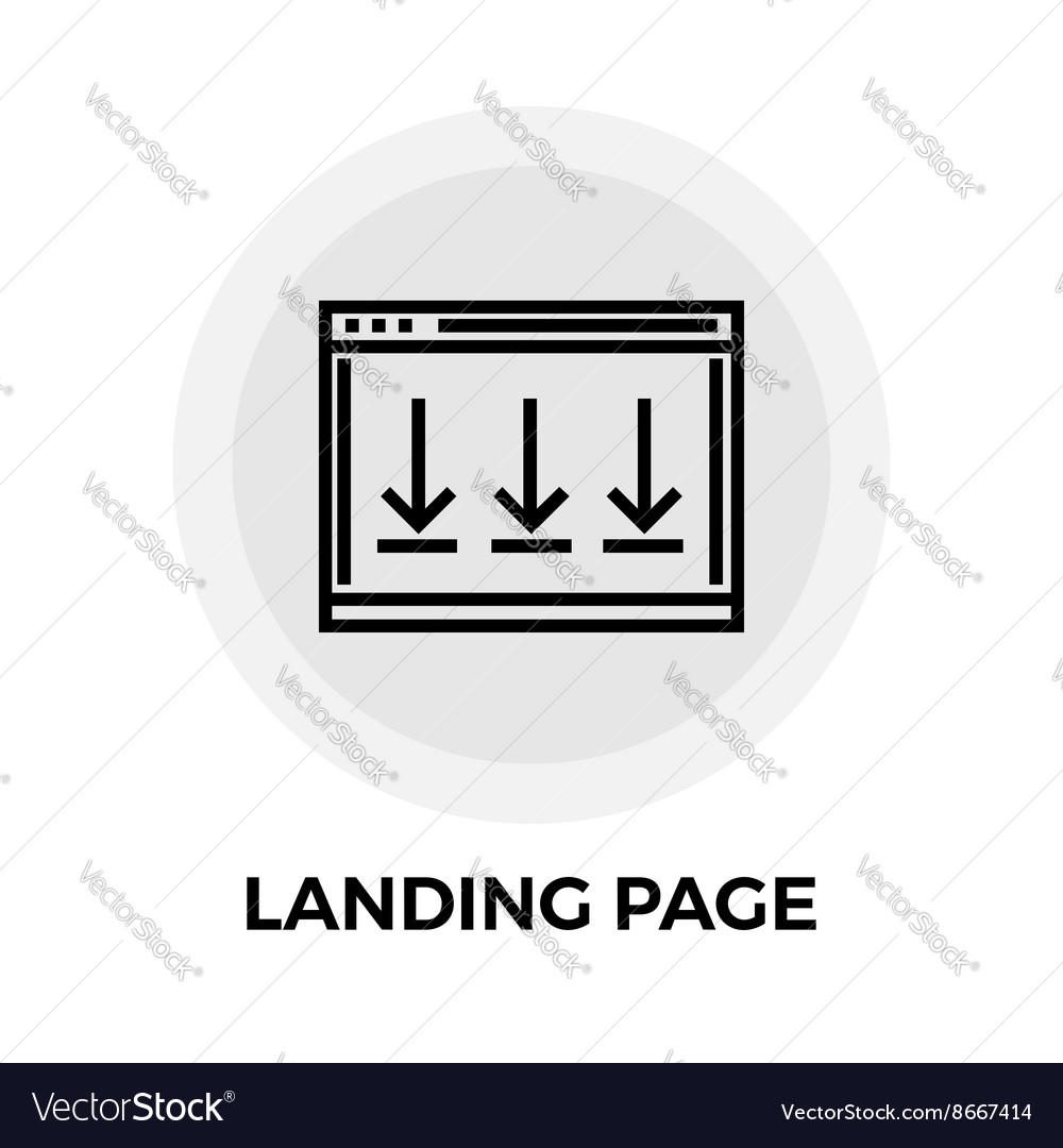 Landing Page Line Icon