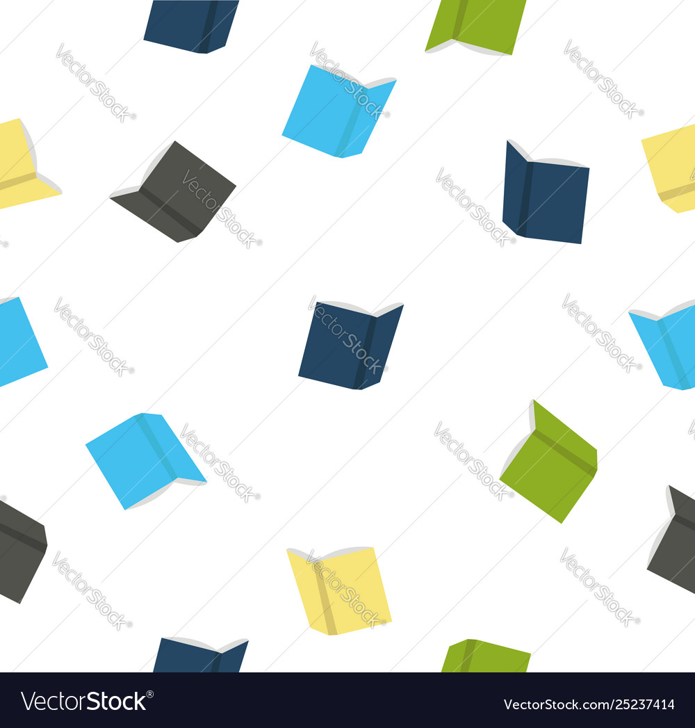 Open books seamless pattern vector