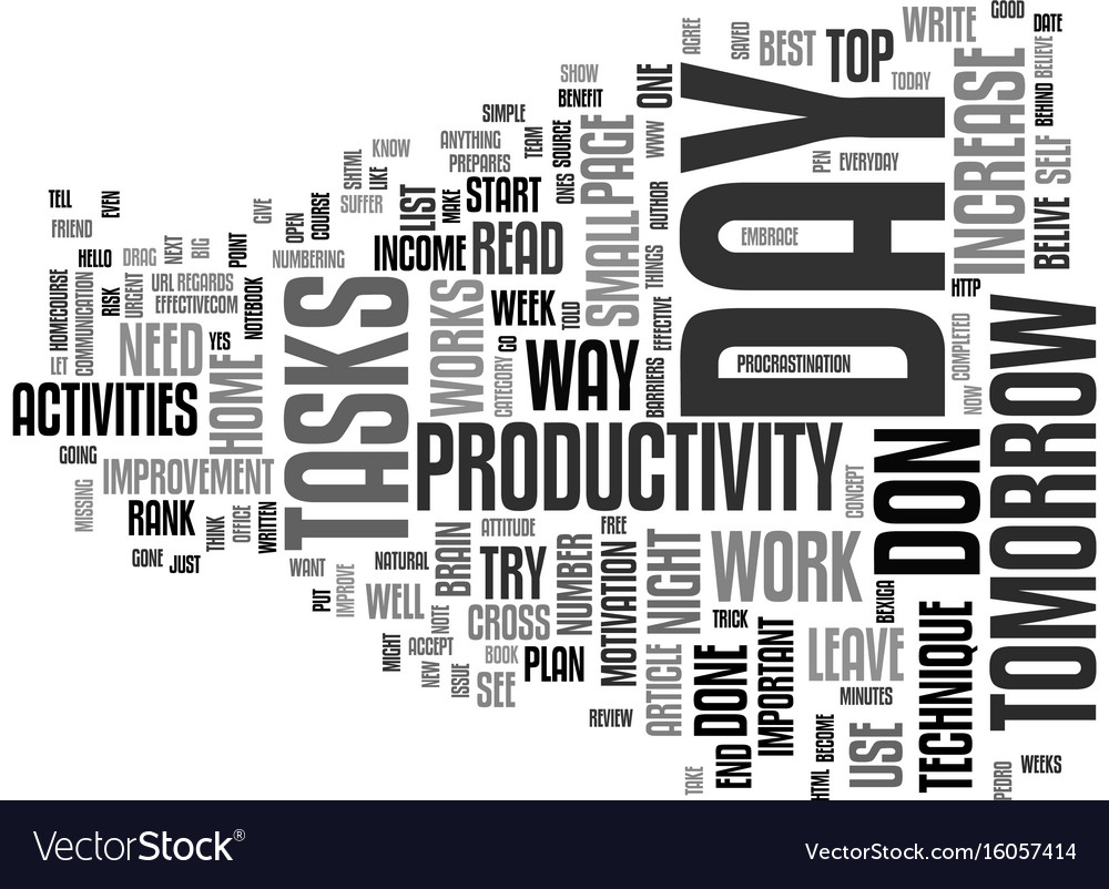 The increase in productivity technique text
