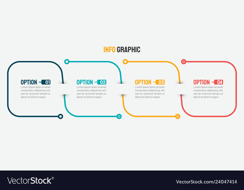 Thin line infographic design with 4 options