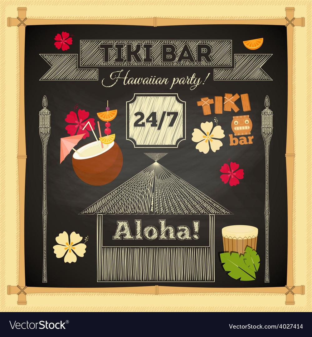 Tiki chalk bar
