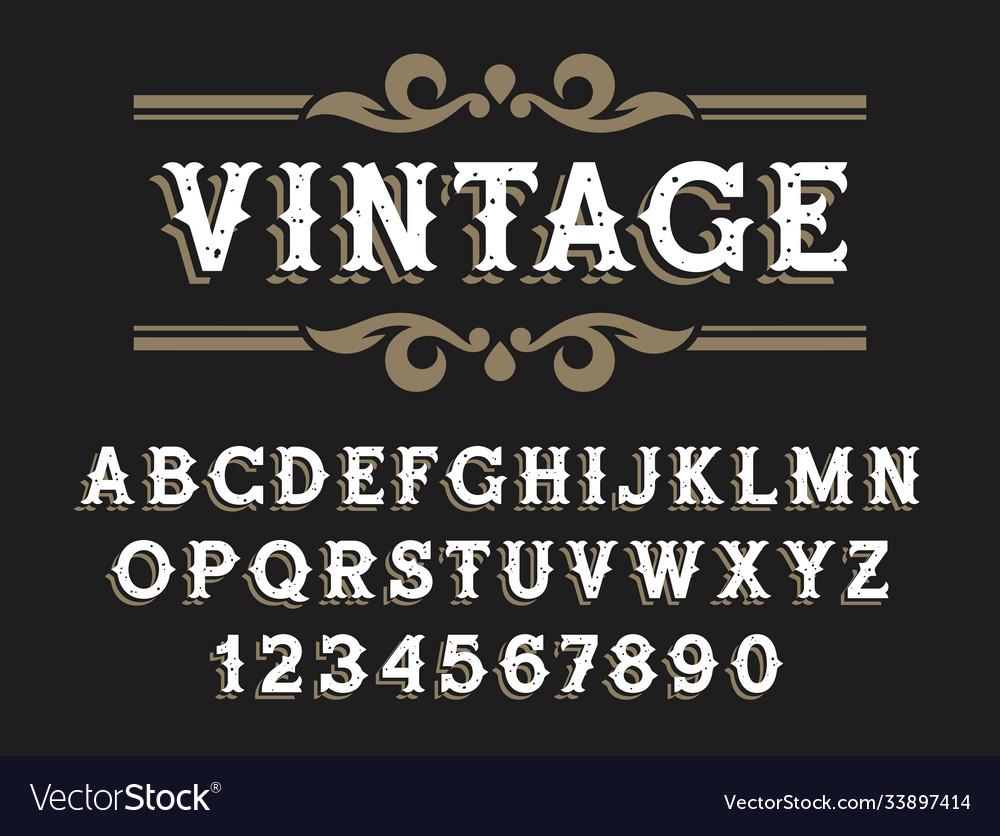 Western font 002