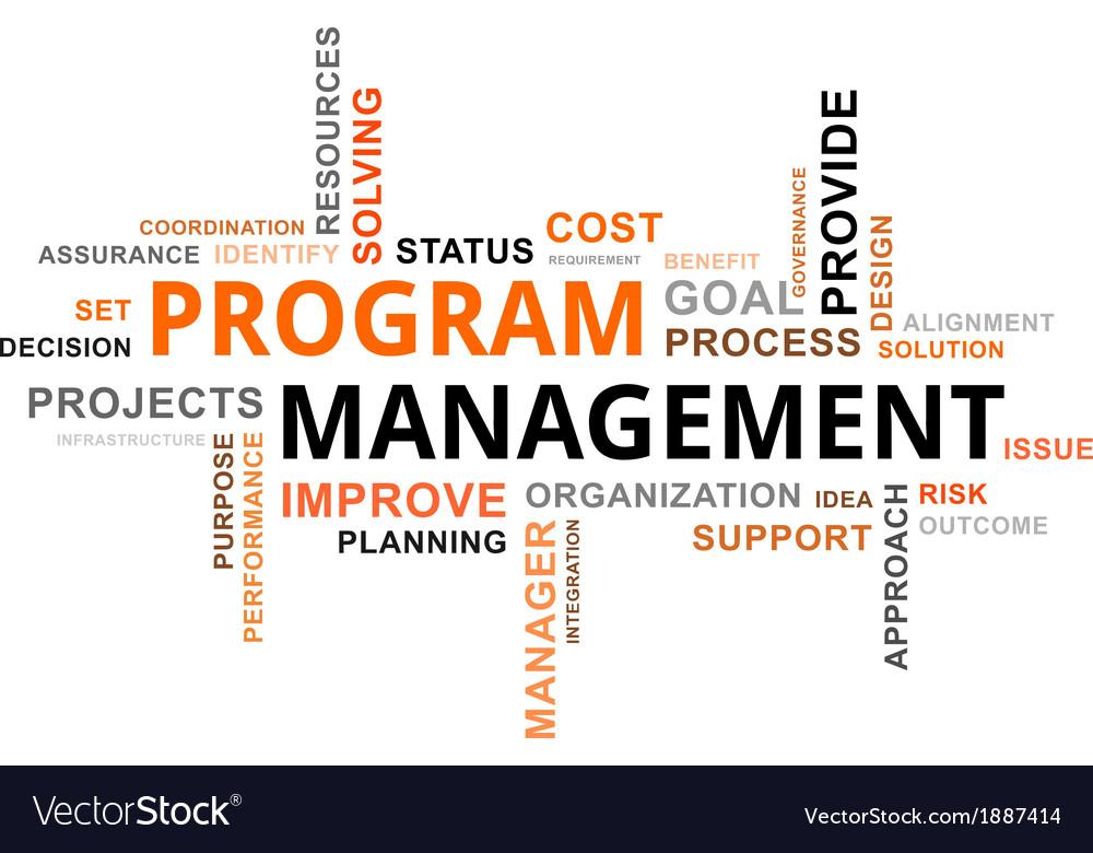 Word cloud program management