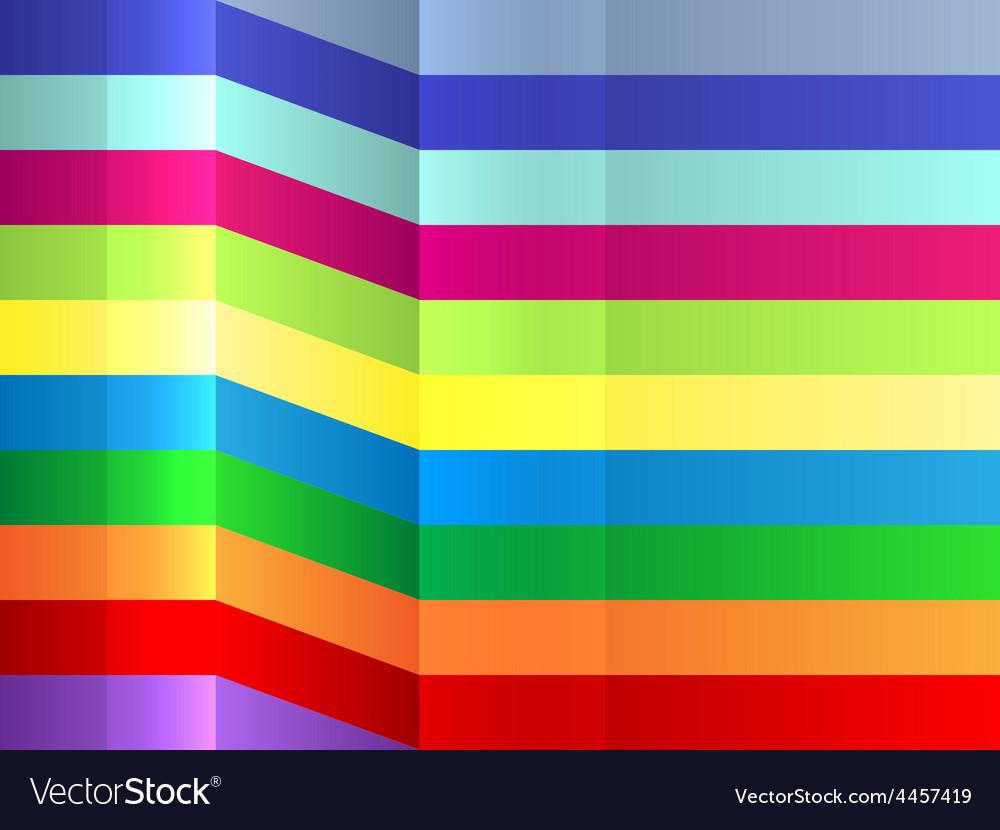 Colorful bending stripes background vector image