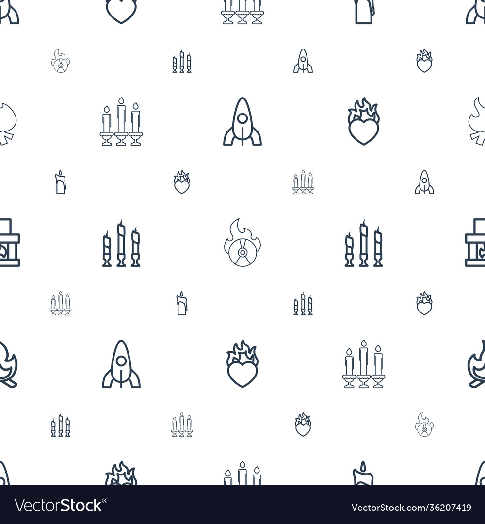 Flame icons pattern seamless white background