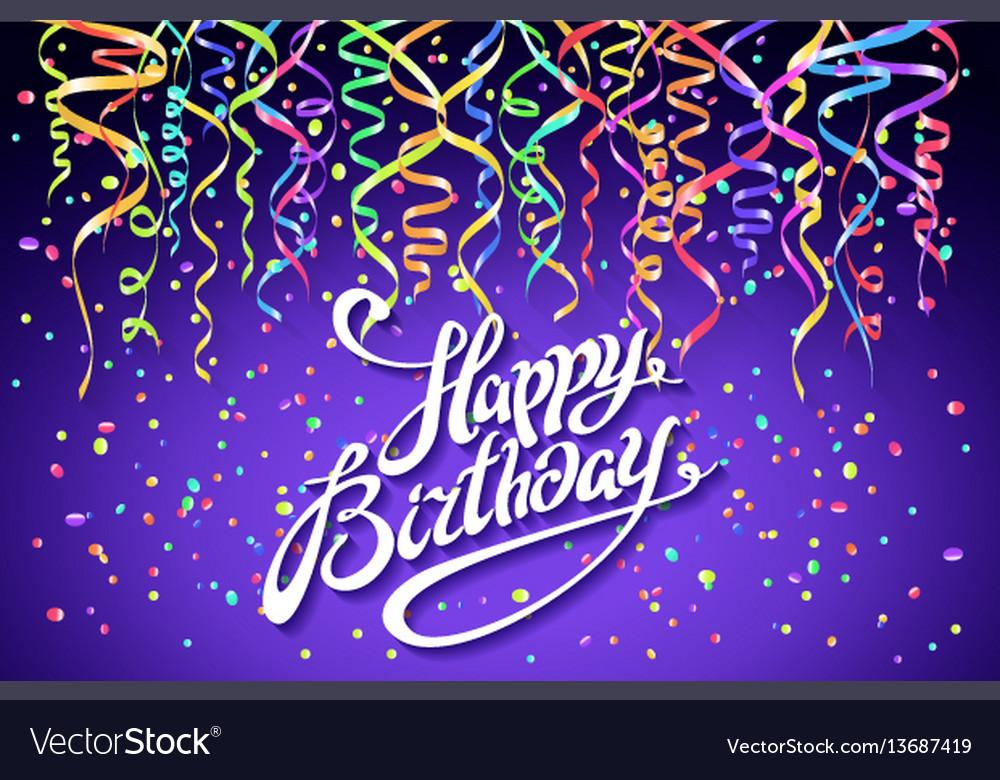 Happy birthday celebration design colorful