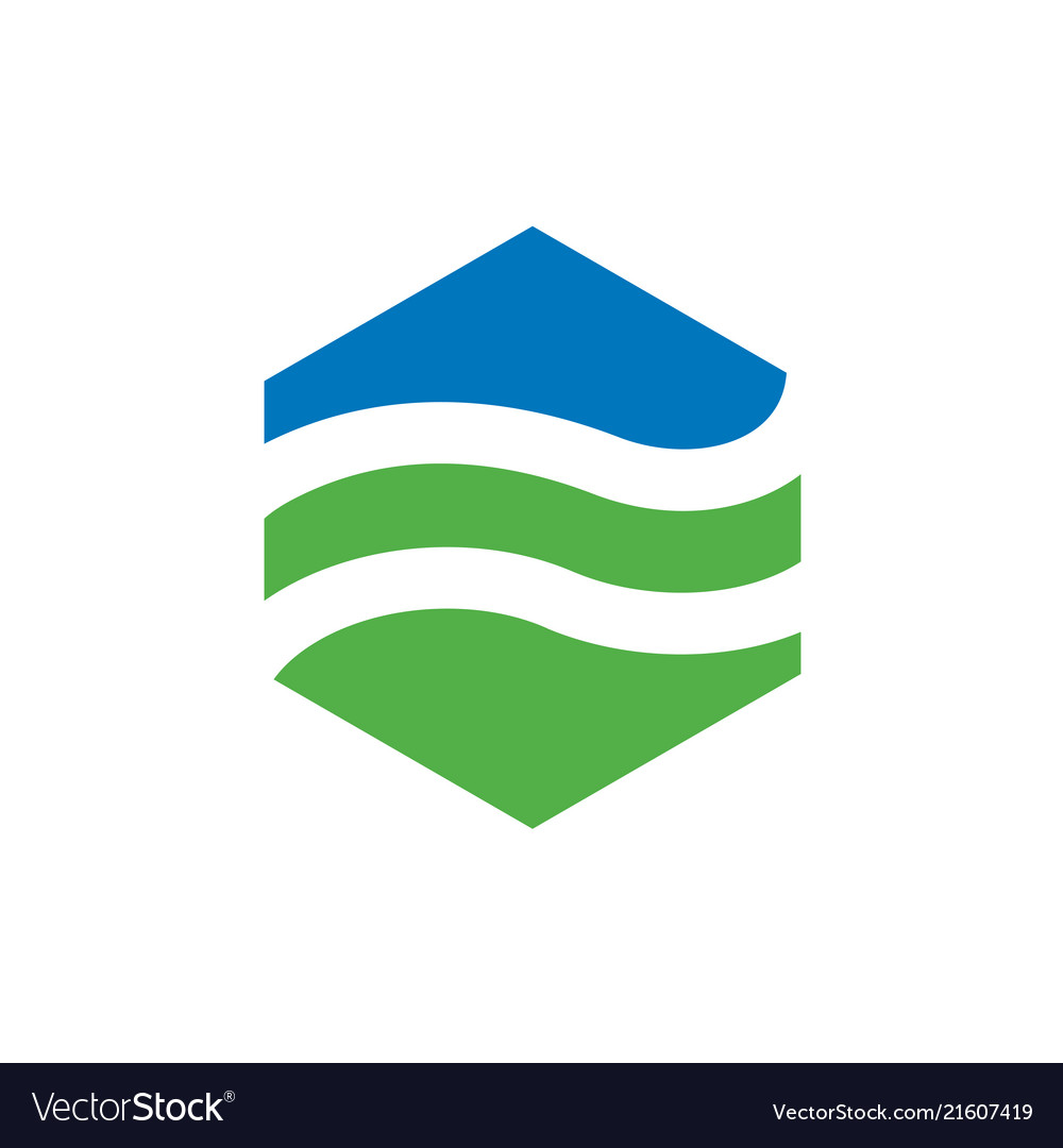 Hexagonal landscape logo