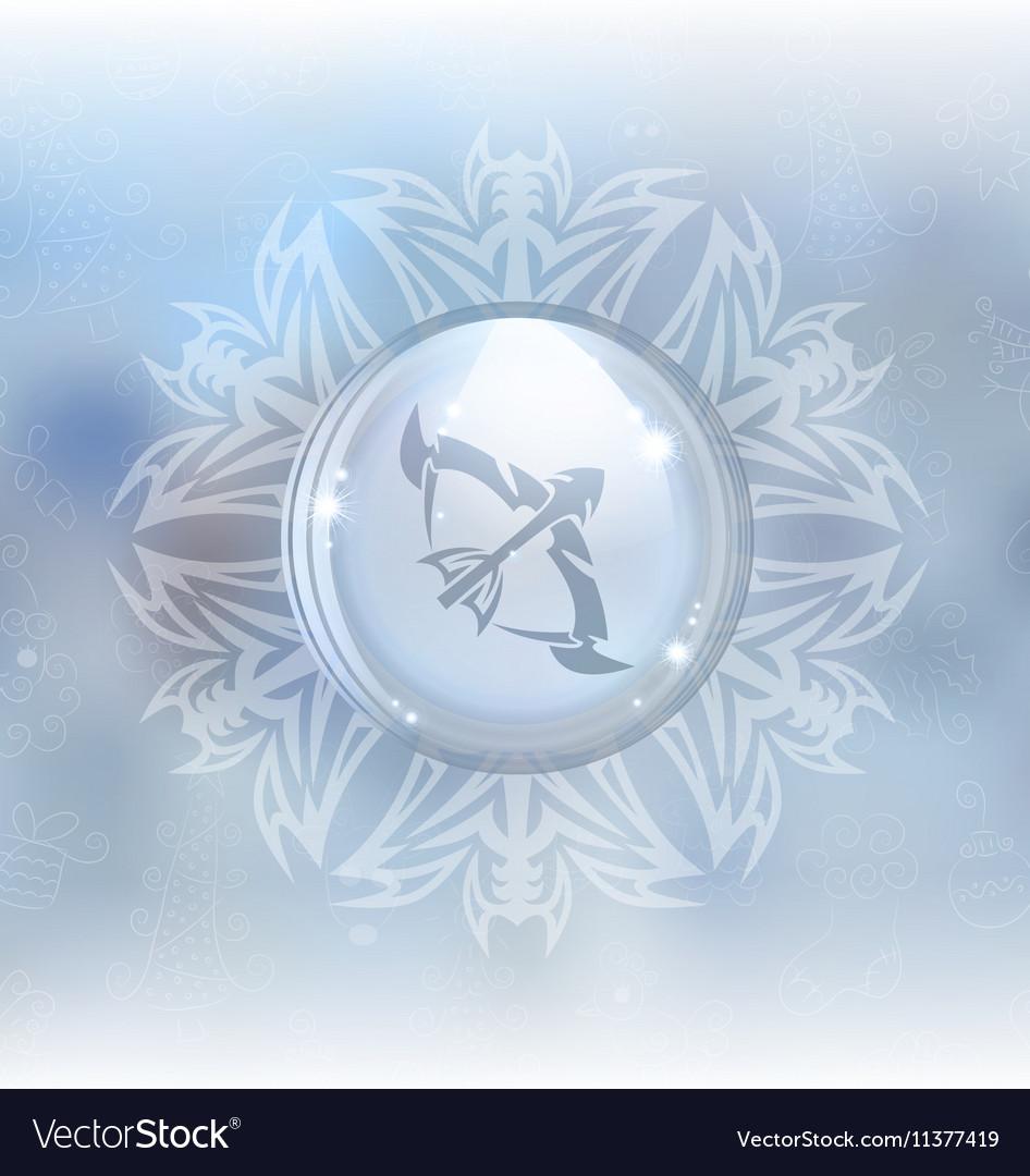 Snow globe with zodiac sign Sagittarius