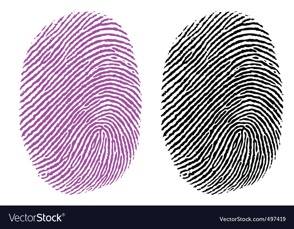 Thumb impression vector image