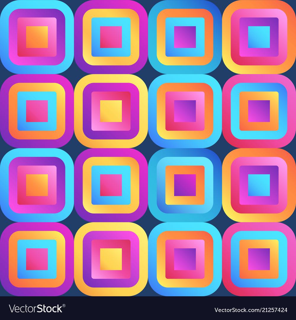 Fresh modern gradient squares seamless pattern vector image