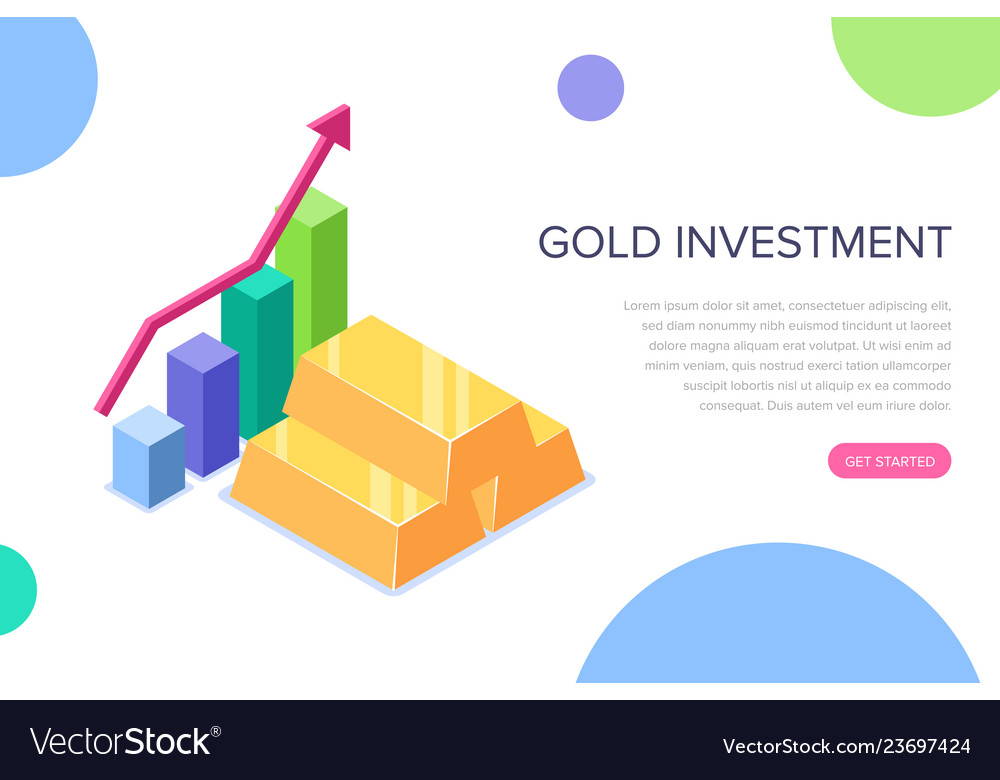 Gold investment concept can use for web banner