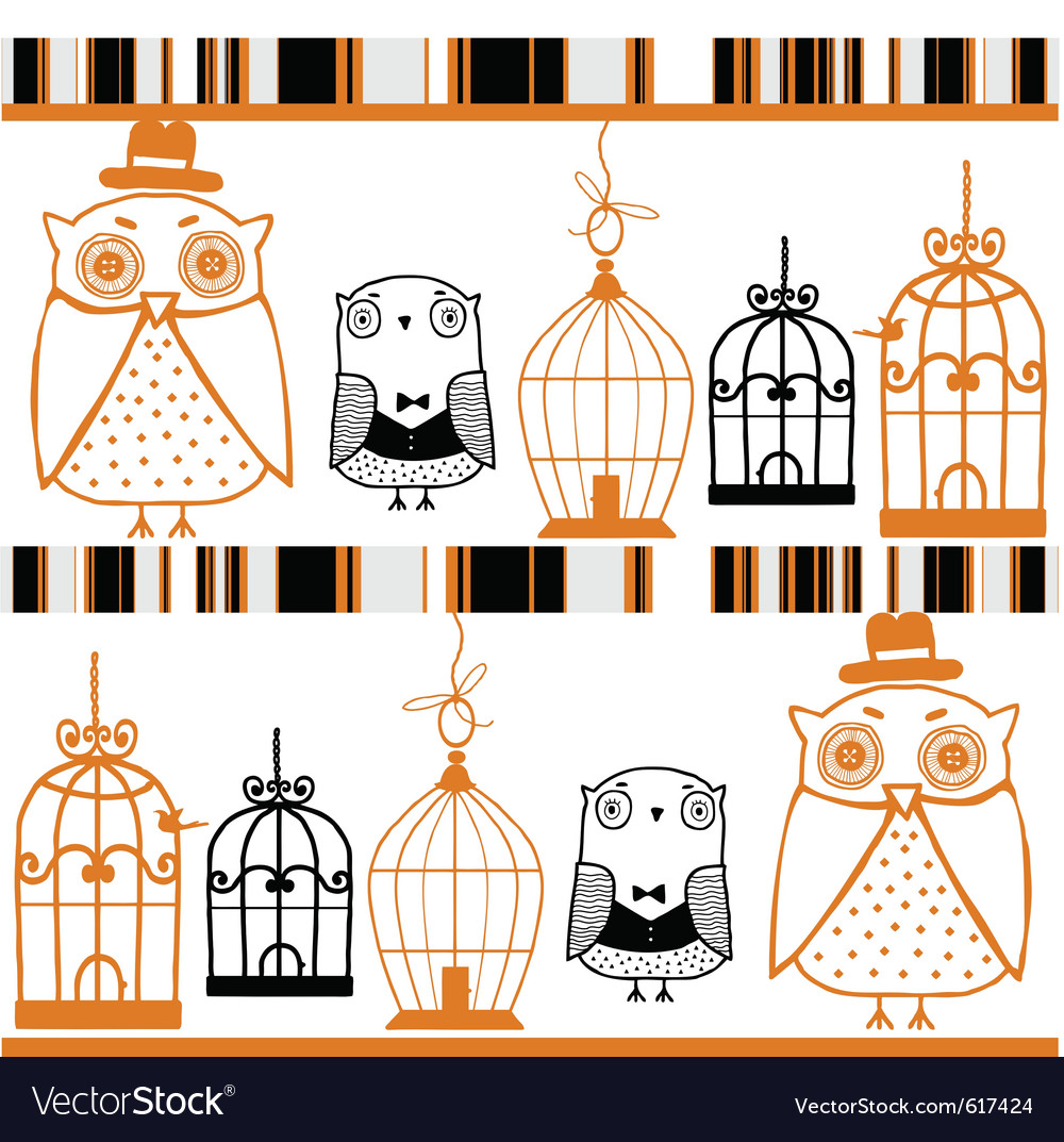 Owls background vector image