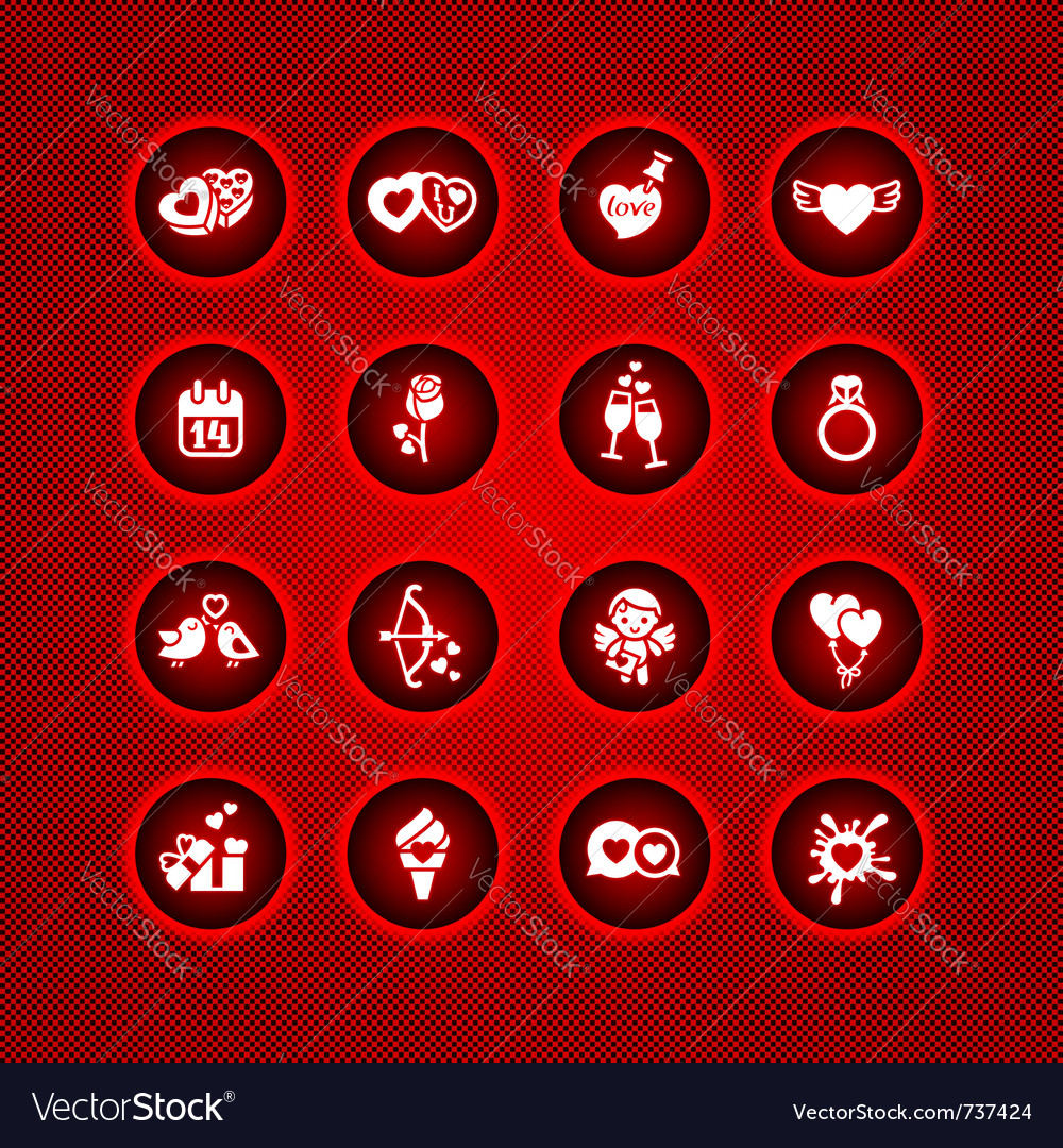 Set Valentines Day Icons Signs Royalty Free Vector Image