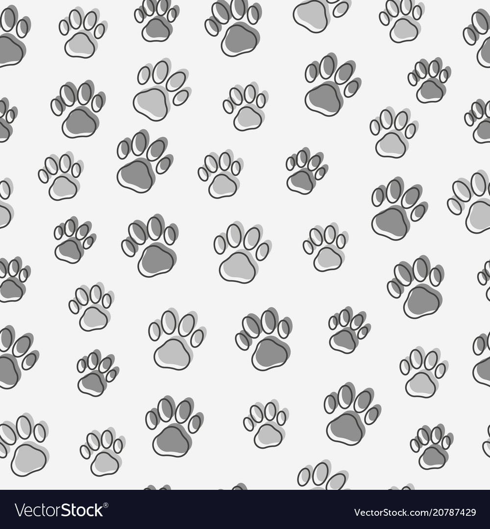 Dog or cat paws seamless pattern