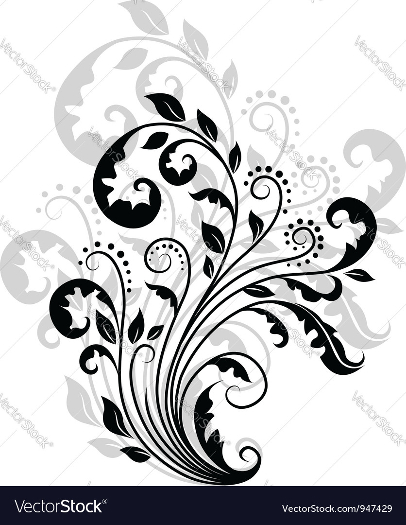 Floral pattern with reflection