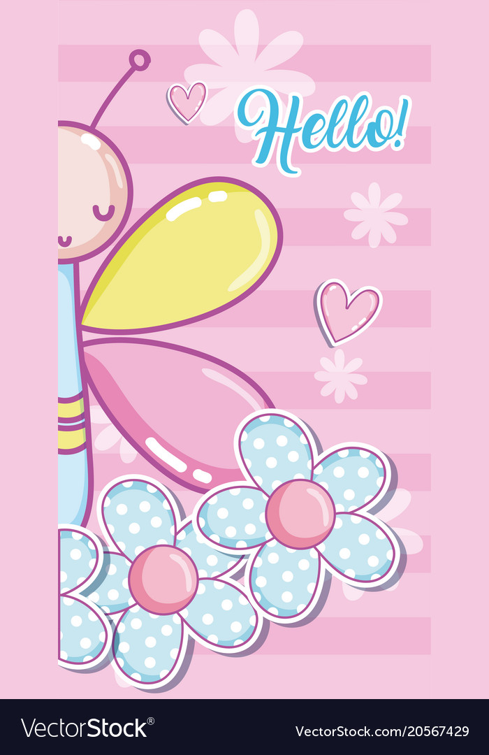 Hello baby shower card