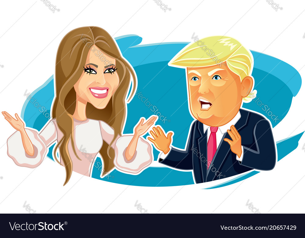 Melania and donald trump editorial caricature