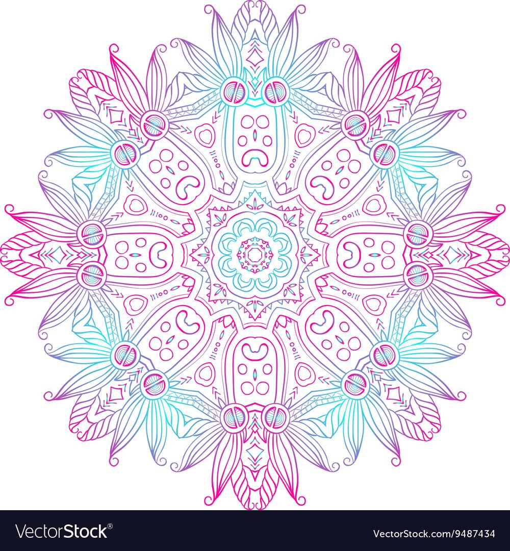 Abstract Hand-drawn Mandala-08