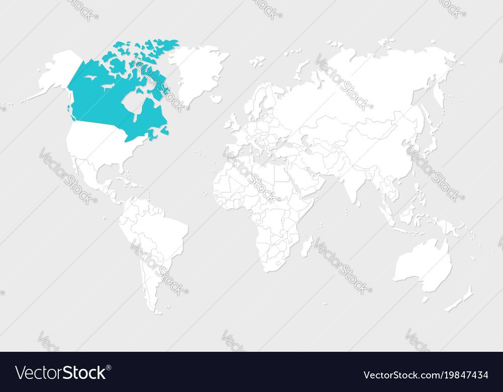 Canada map Royalty Free Vector Image VectorStock