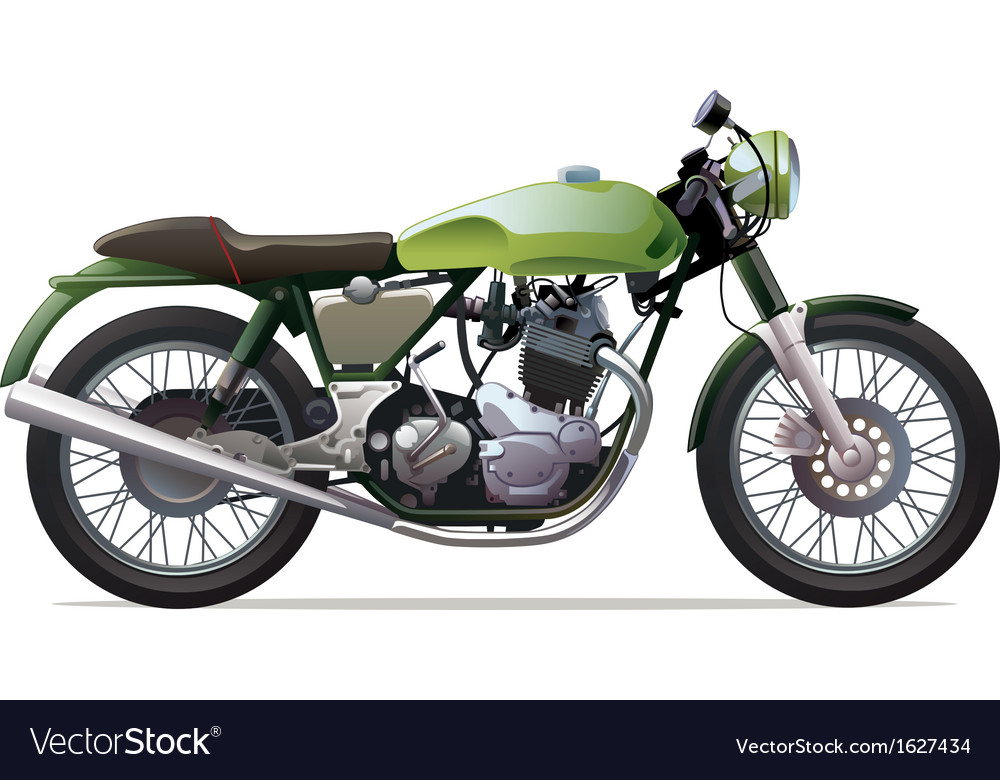 Classic Racing Motorcycle vector image