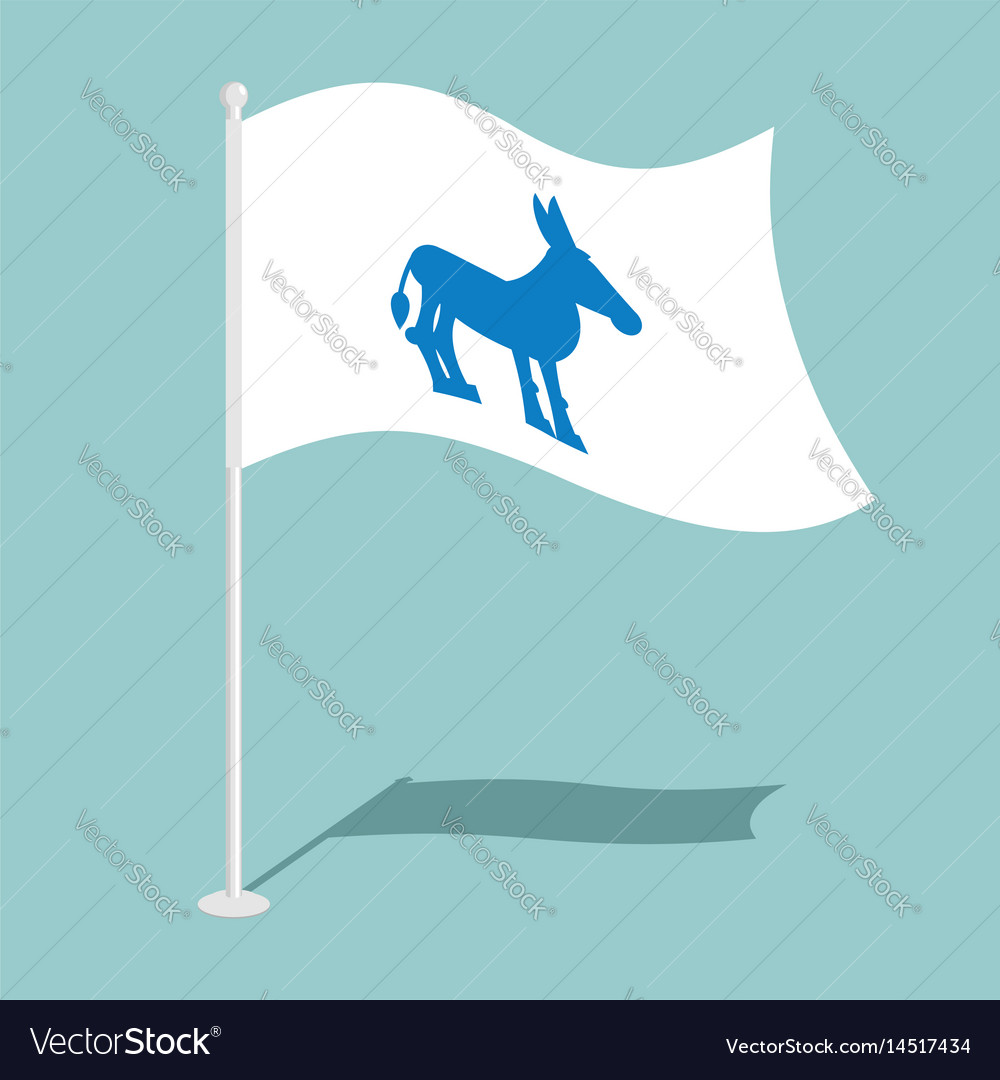 Democrat donkey flag national flag of