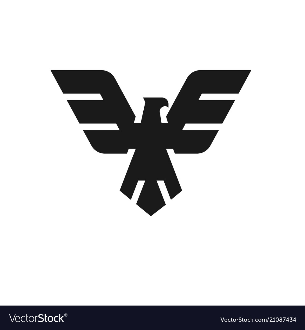 eagle head logo template royalty free vector image