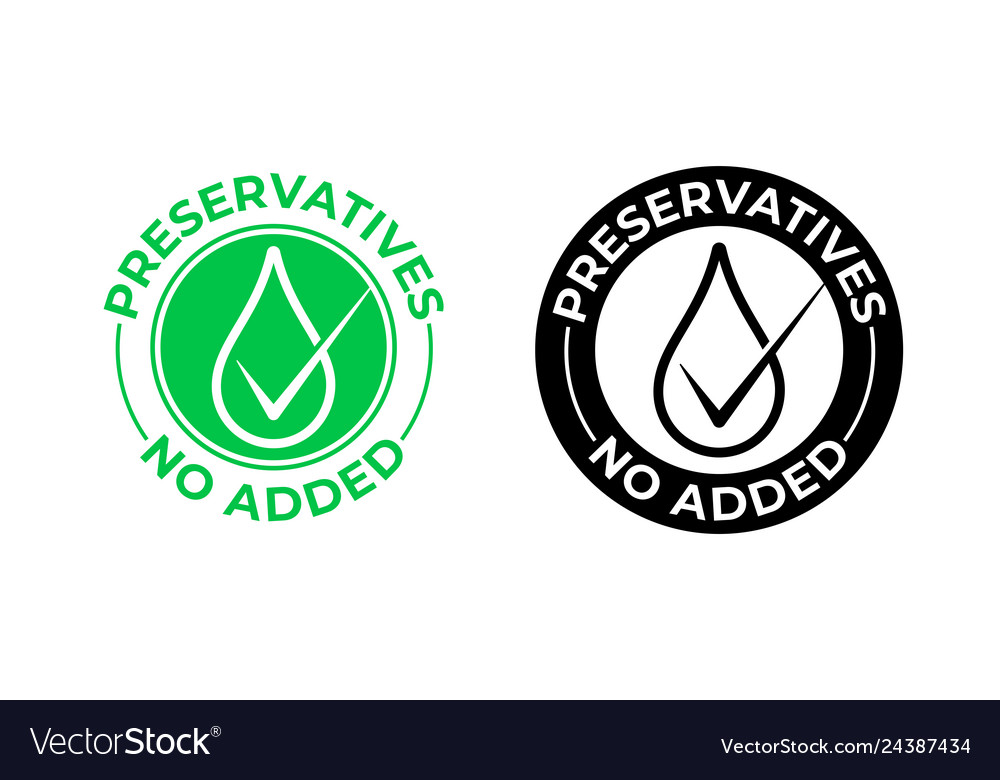 Preservatives no added icon preservatives free