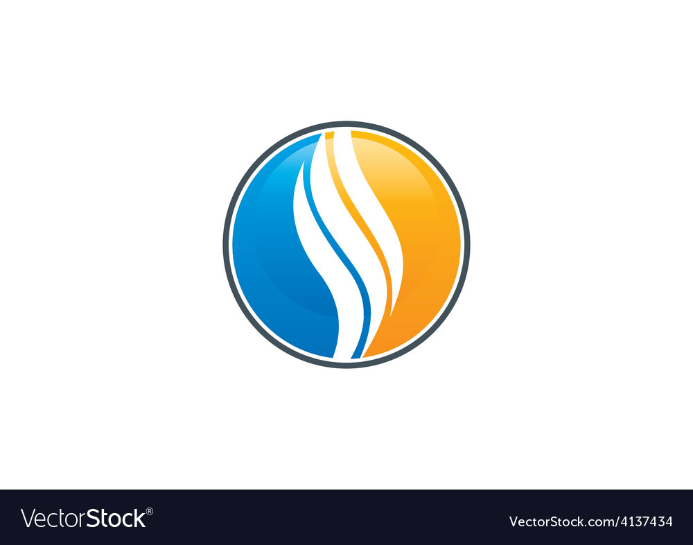 Round swirl abstract icon logo vector image