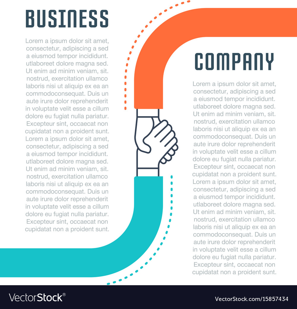 Website banner and landing page business company