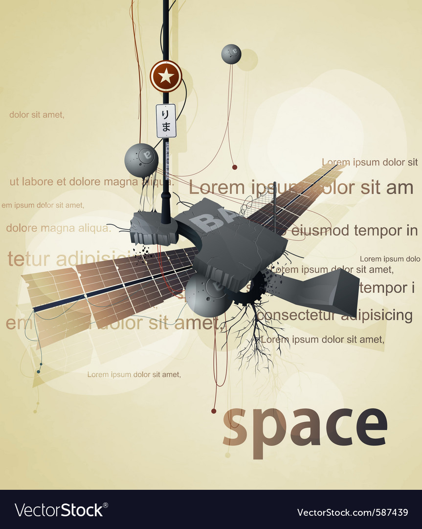 Abstract space station satellite