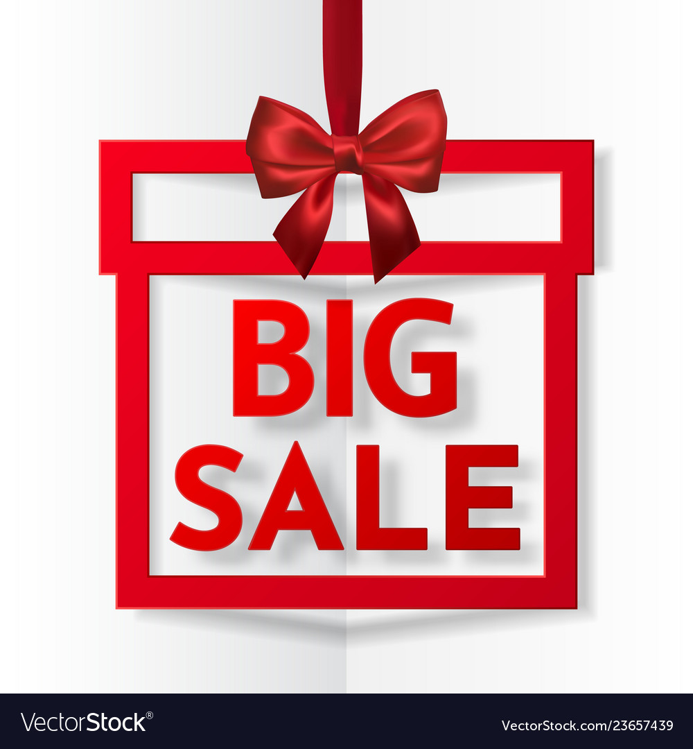 Big sale bright holiday gift box frame banner
