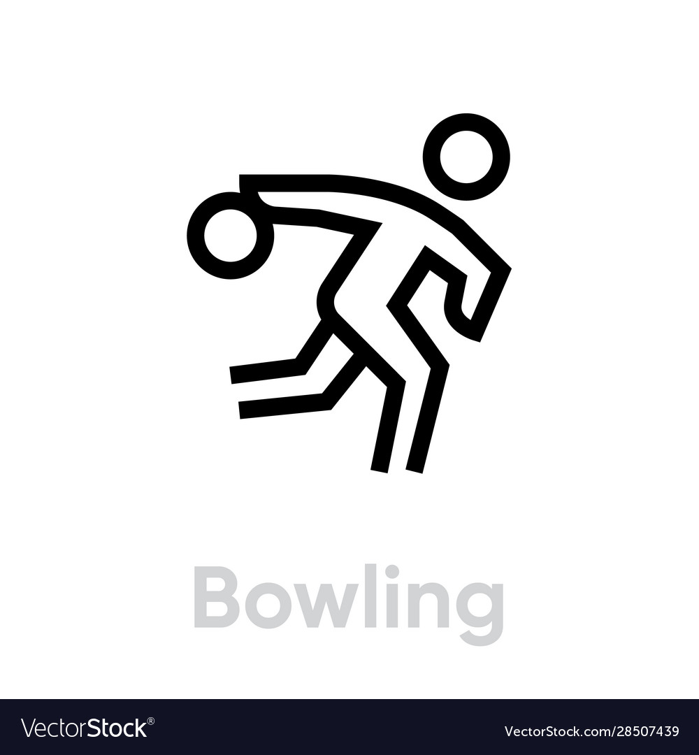 Bowling sport icons