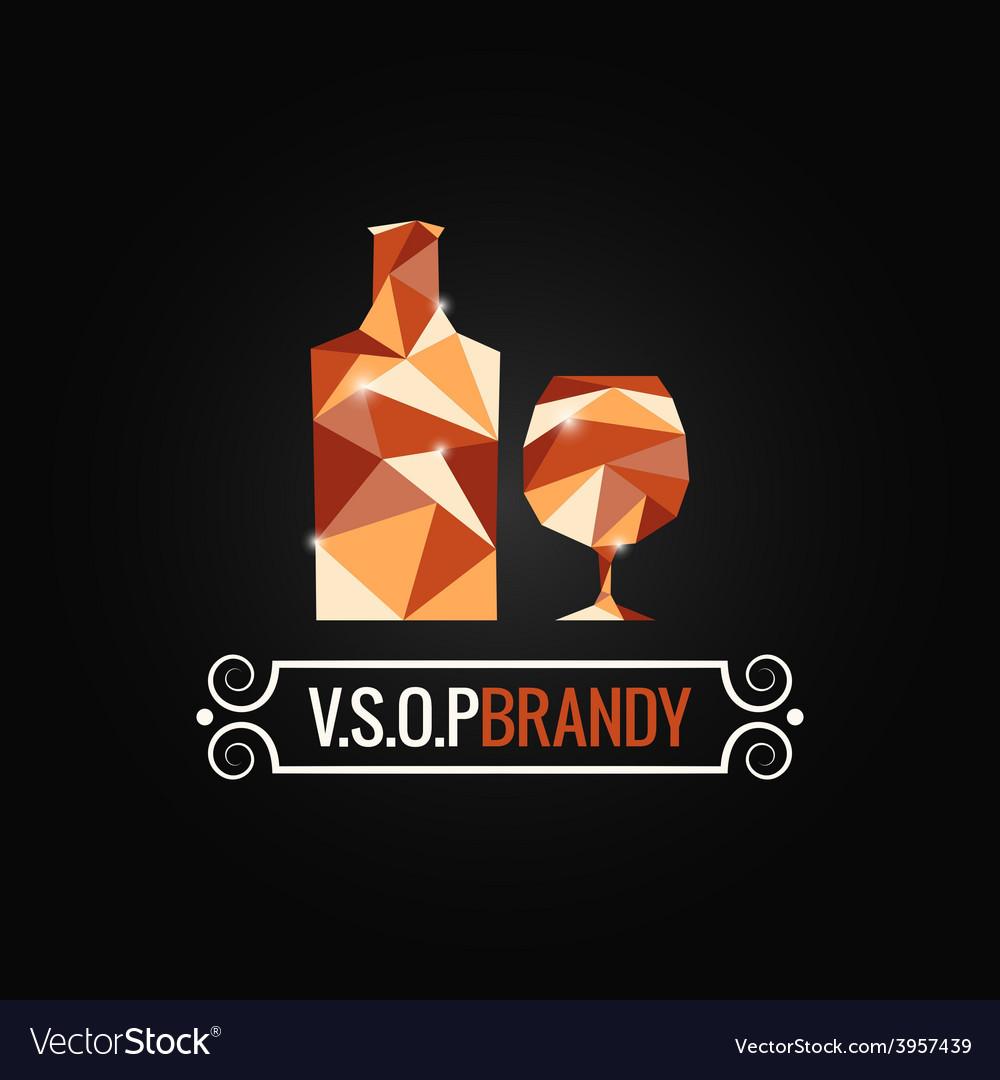 Brandy glass poly design background